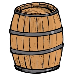 Old barrel vector image