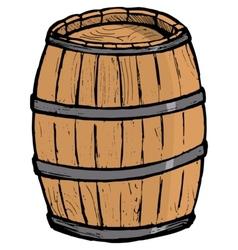Old barrel vector