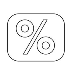 Percentage symbol financial flat icon vector