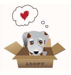 Pet adoption concept vector