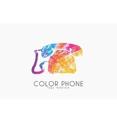 phone logo color phone design creative logo vector image
