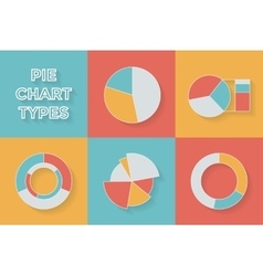 Pie chart types - Set of Infographic Elements vector