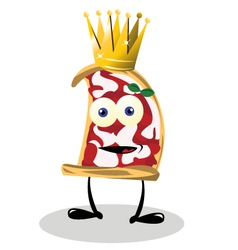 pizza king vector image