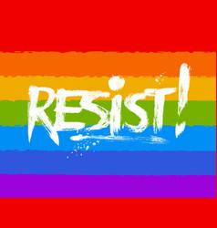 Resist word lettering vector