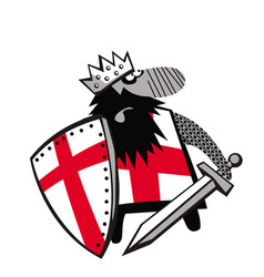 richard lionheart is going on a crusade vector image