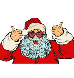 Santa claus in fancy glasses isolated on white vector