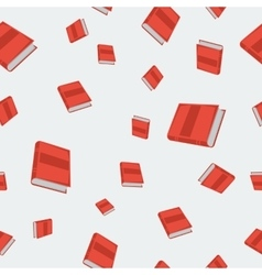 Seamless - red books vector image