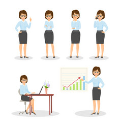 Set character businesswomen vector