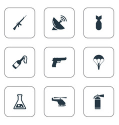 Set of 9 simple terror icons can be found such vector