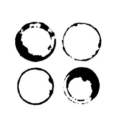 set of coffee or tea stains splashes of cups and vector image