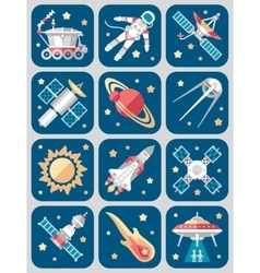 Set on Space vector image