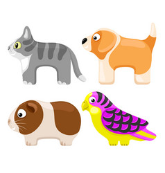 set toy pets vector image