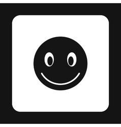 Smiling emoticon icon simple style vector image
