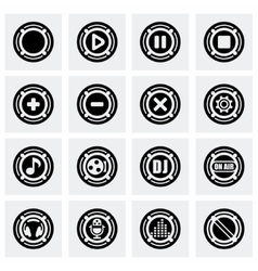 Sound icon set vector image