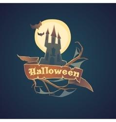 Sticker and poster Happy Halloween vector