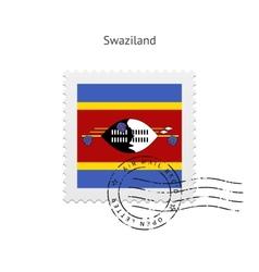 Swaziland Flag Postage Stamp vector