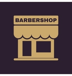 The barbershop building icon Barbershop symbol vector image