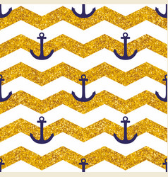 tile sailor pattern with white stripes gold vector image