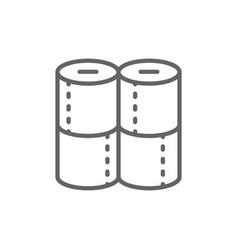 toilet paper rolls line icon vector image