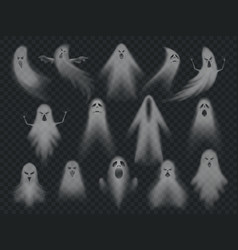 Transparent ghost horror spooky ghosts halloween vector