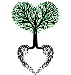 Tree life heart tree vector