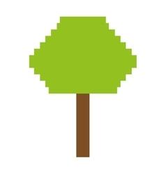 Tree plant pixel icon vector