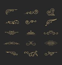 variety retro decoration elements vector image