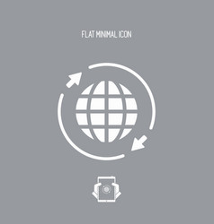World connection - flat minimal icon vector
