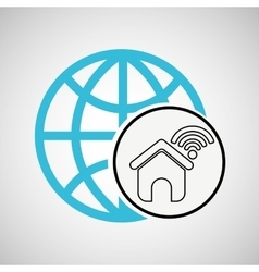 connection concetp globe home wifi vector image