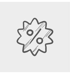 Discount tag sketch icon vector image