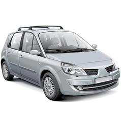 French silver MPV vector image vector image