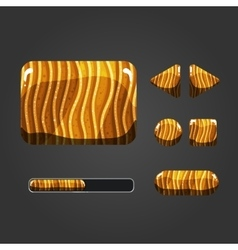 Set of sand different buttons vector