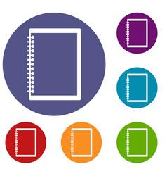 sketchbook icons set vector image vector image