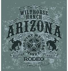 Arizona wild horse rodeo vector image vector image