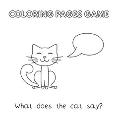 cartoon cat coloring book vector image