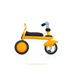 Childrens Bicycle One vector image vector image