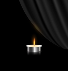 dark and small candle vector image vector image