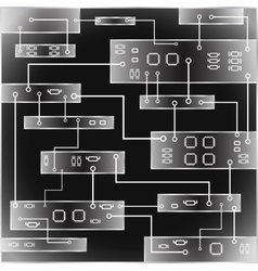 Electrical circuit eps 10 vector image vector image