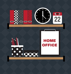 Flat of hipster home office workplace vector image vector image