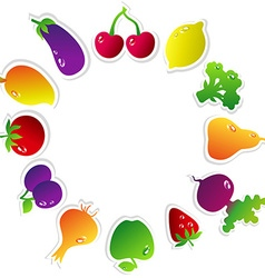 FruitsCircle vector image vector image