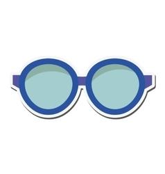 glasses look vision design vector image
