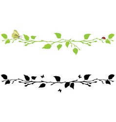 set of dividing with birch tree vector image vector image