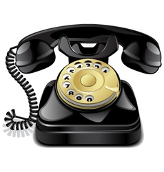 vintage telephone vector image