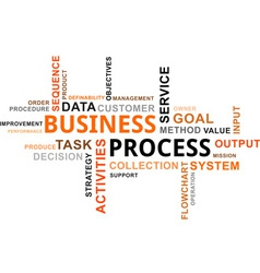 word cloud business process vector image vector image
