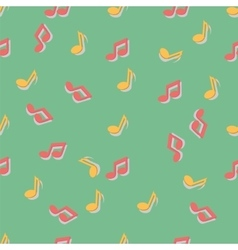 Pattern with music notes vector image vector image
