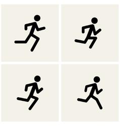 running men vector image vector image
