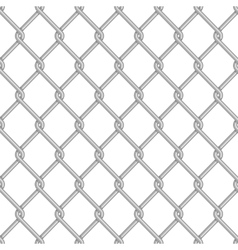 Seamless chain link fence background vector image