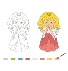 beautiful princess with baby vector image