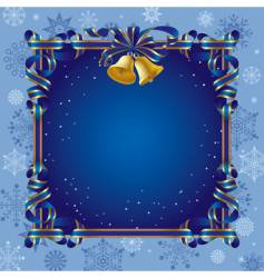 christmas background with a bell vector image vector image