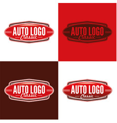 classic auto logo vector image vector image